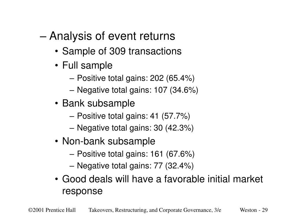 Analysis of event returns