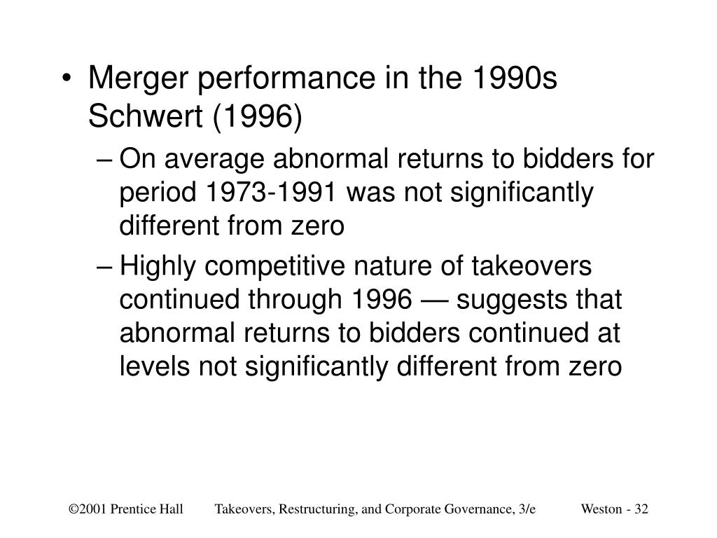 Merger performance in the 1990s