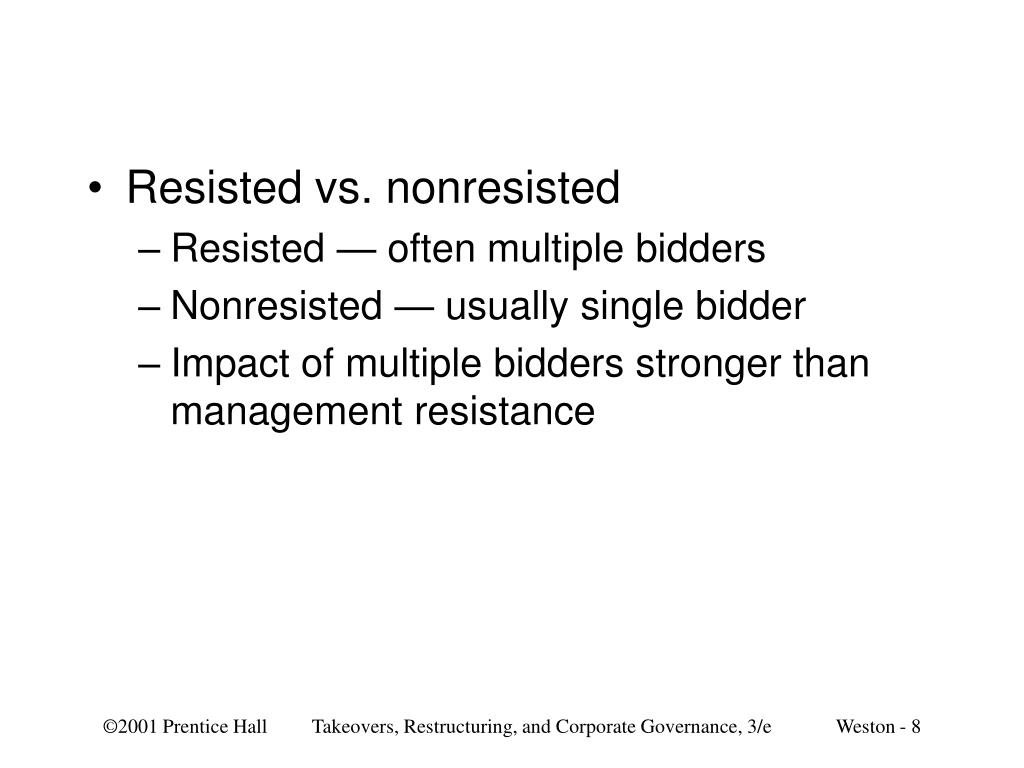 Resisted vs. nonresisted