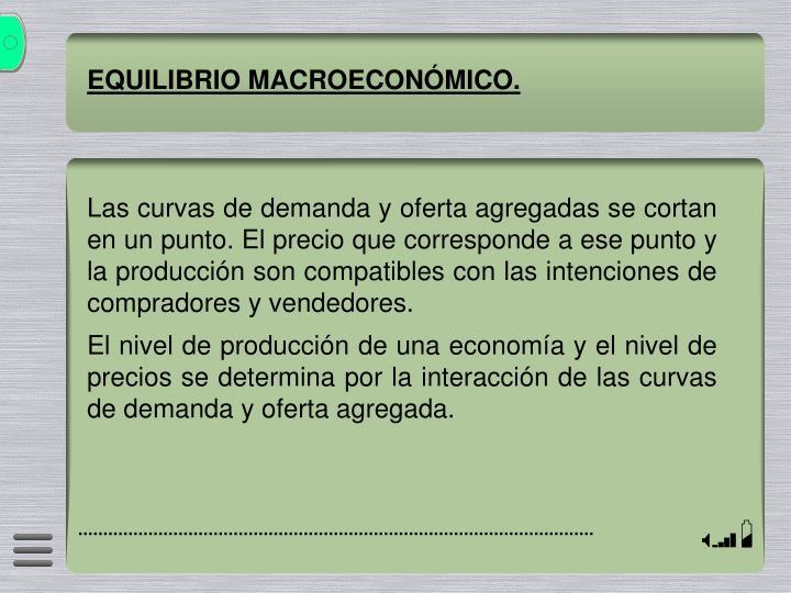 EQUILIBRIO MACROECONÓMICO.