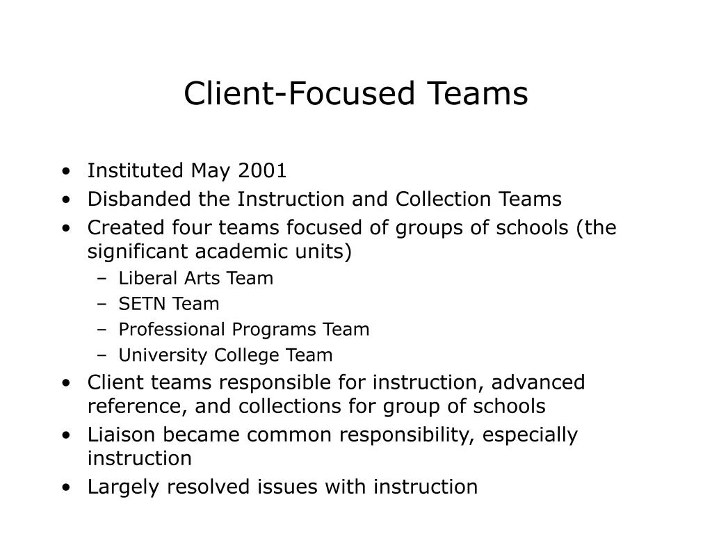 Client-Focused Teams