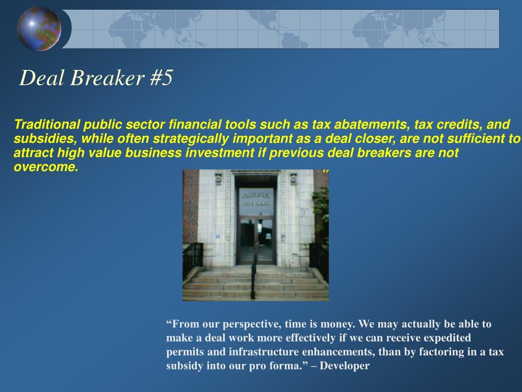 Deal Breaker #5