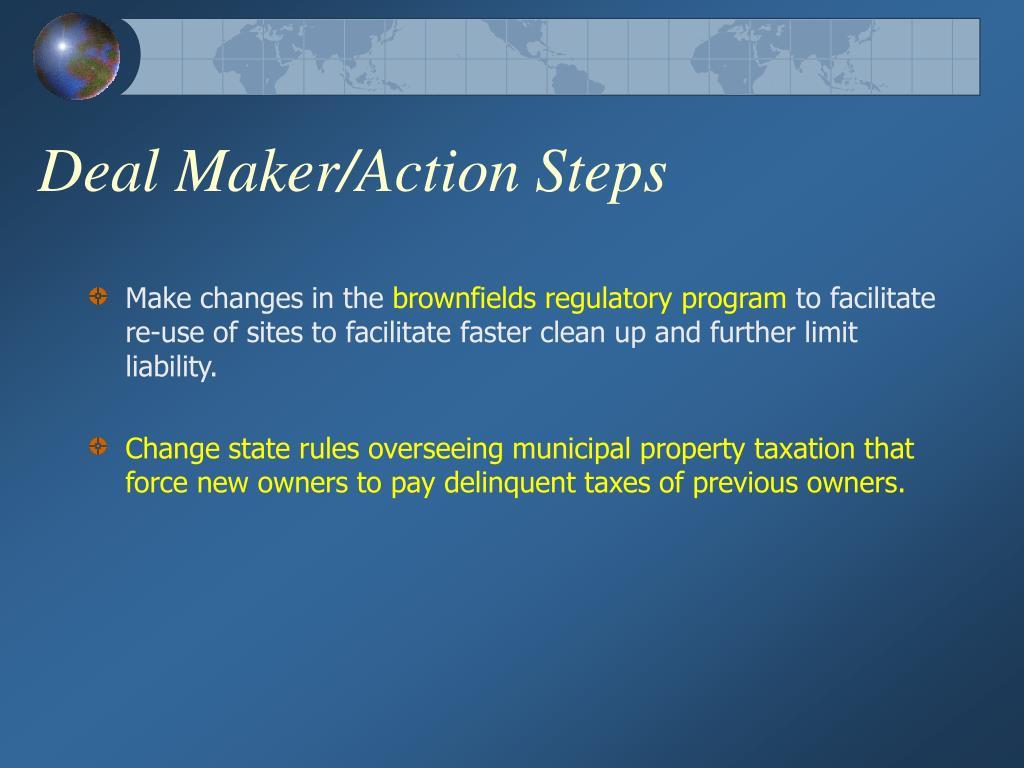 Deal Maker/Action Steps