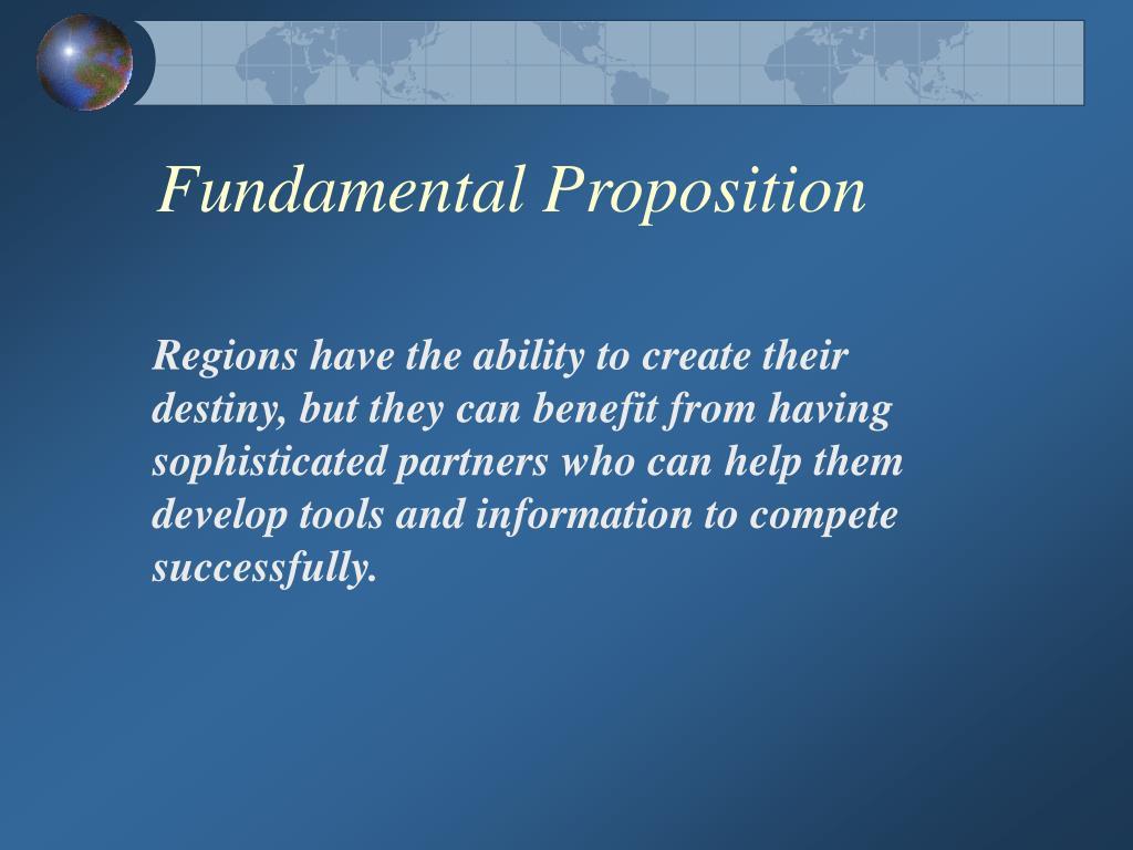 Fundamental Proposition