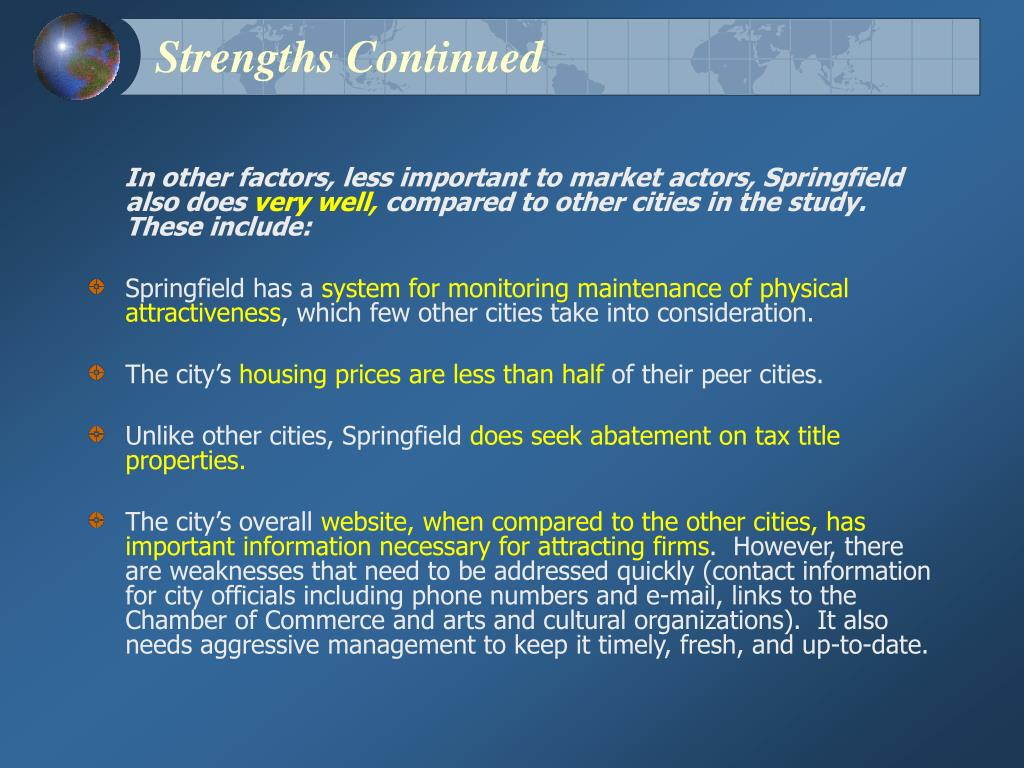 Strengths Continued