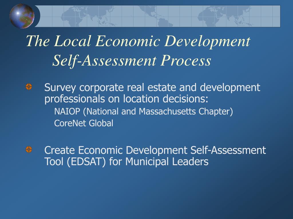 The Local Economic Development Self-Assessment Process