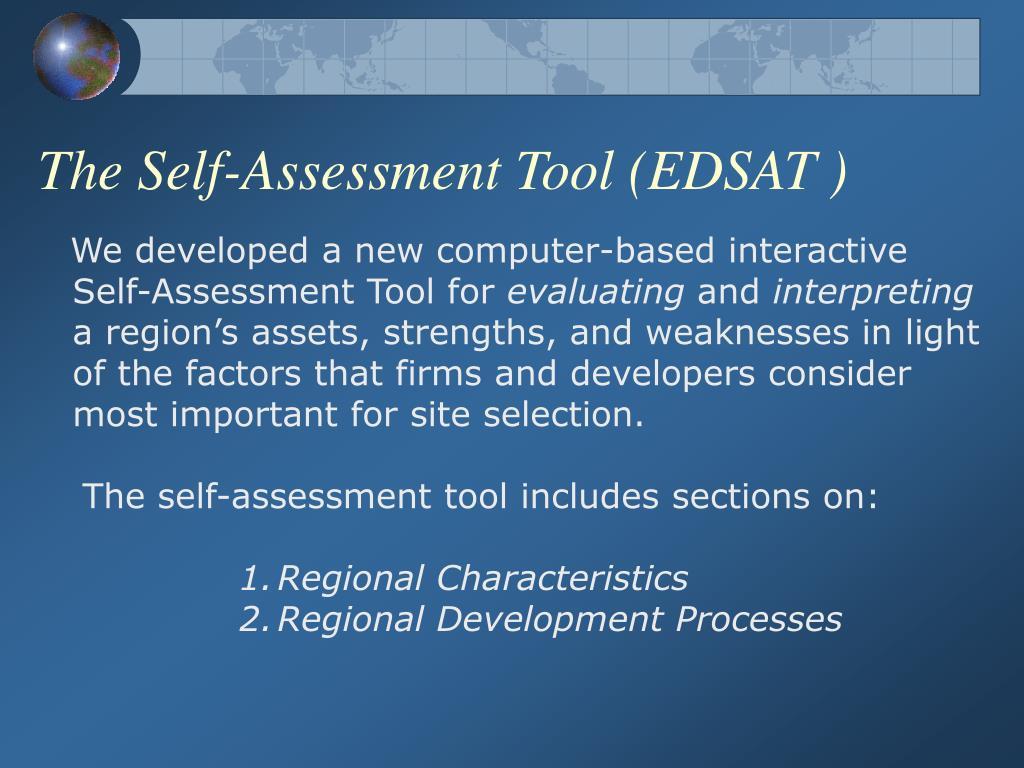 The Self-Assessment Tool (EDSAT )