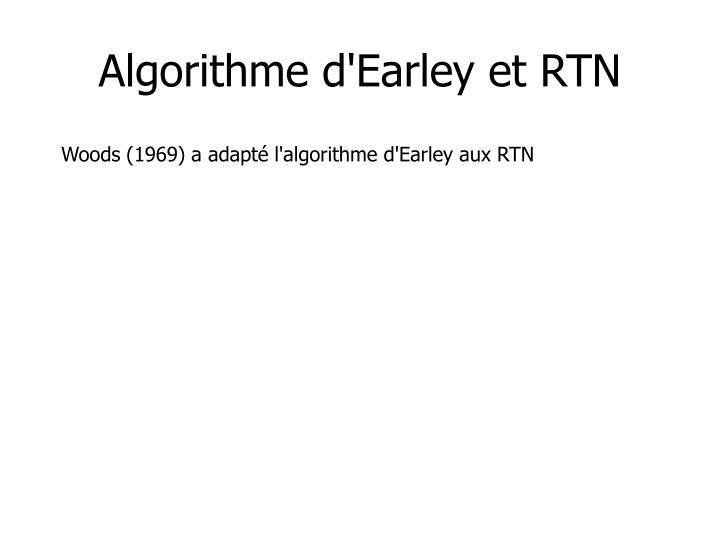 Algorithme d'Earley et RTN