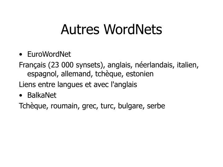 Autres WordNets