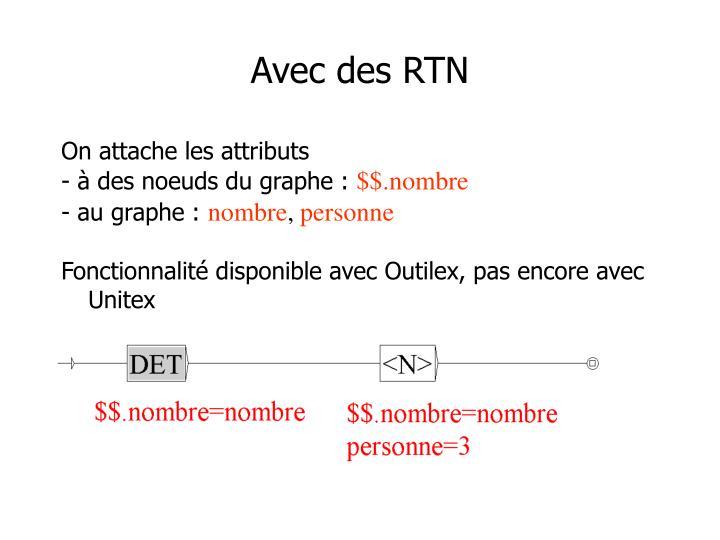Avec des RTN