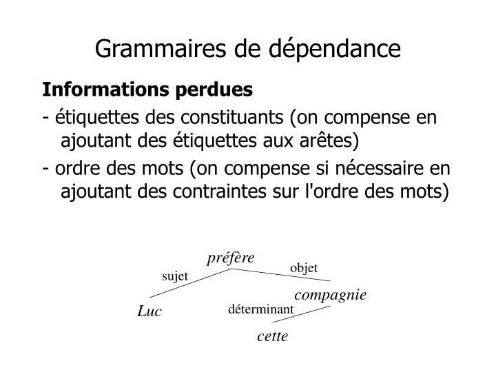 Grammaires de dépendance