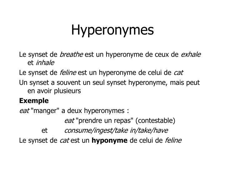 Hyperonymes