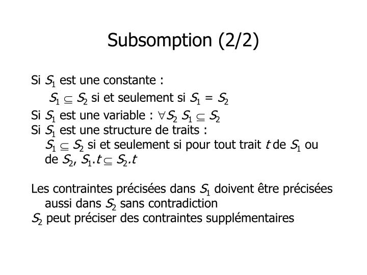 Subsomption (2/2)