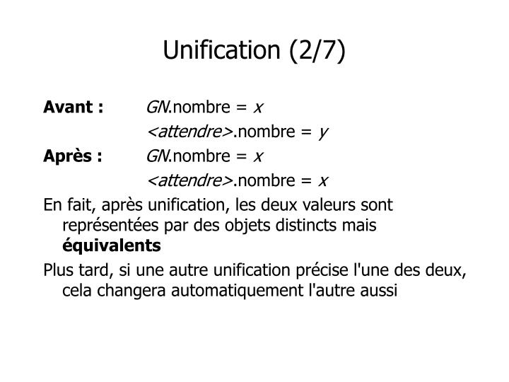 Unification (2/7)