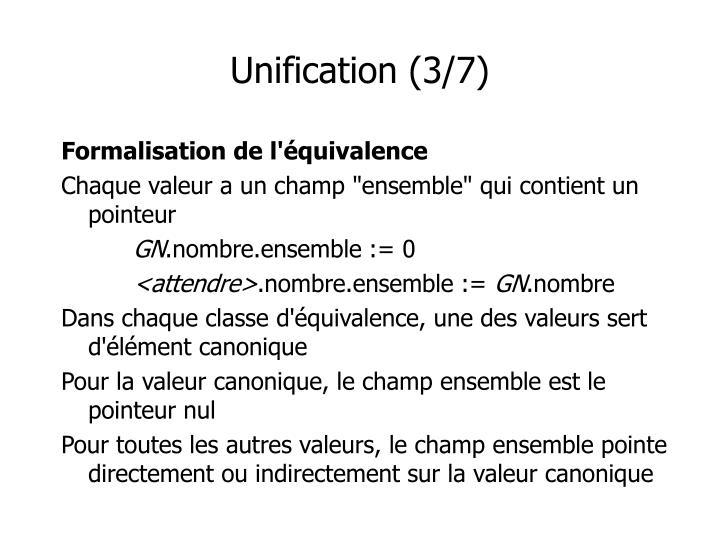 Unification (3/7)