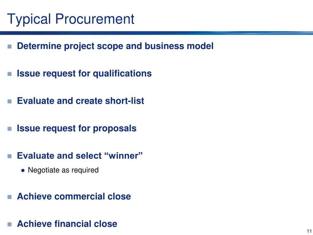 Typical Procurement