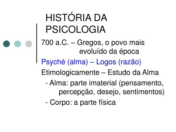 hist ria da psicologia