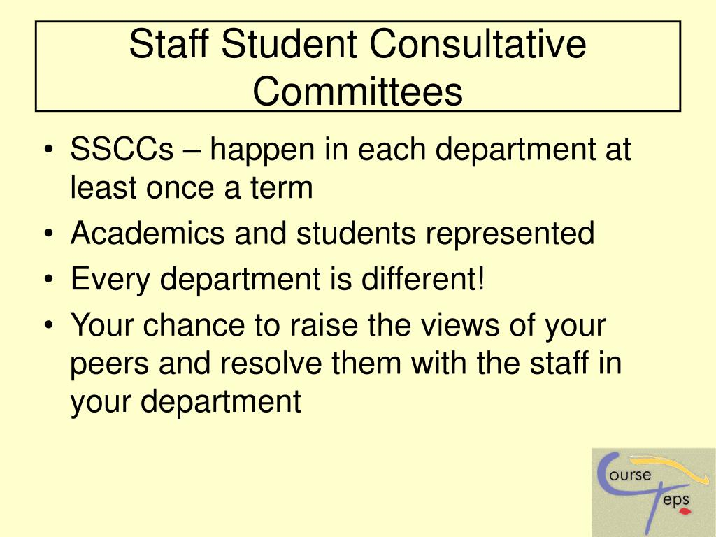 Staff Student Consultative Committees