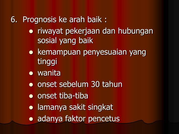 6.Prognosis ke arah baik :