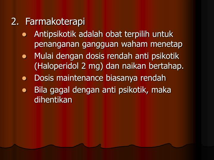 2.Farmakoterapi