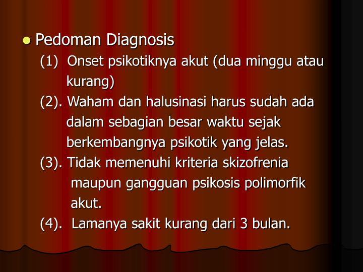 Pedoman Diagnosis