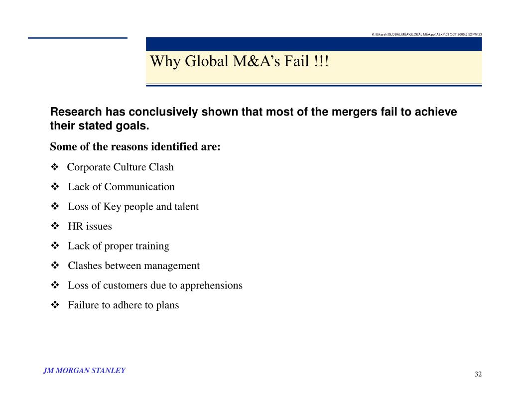 K:\Utkarsh\GLOBAL M&A\GLOBAL M&A.ppt\A2XP\03 OCT 2005\6:52 PM\33