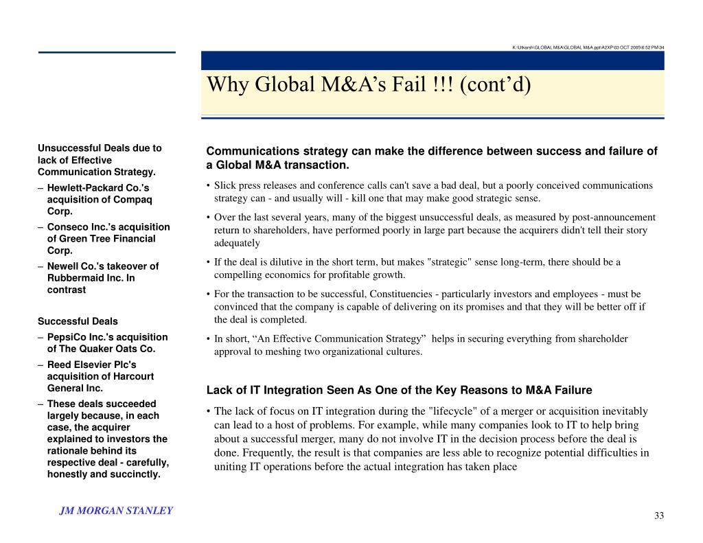 K:\Utkarsh\GLOBAL M&A\GLOBAL M&A.ppt\A2XP\03 OCT 2005\6:52 PM\34