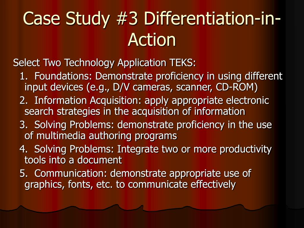 Case Study #3 Differentiation-in-Action