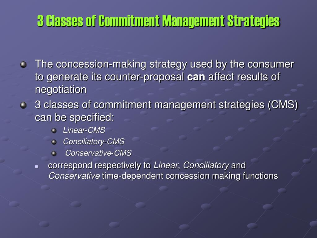 3 Classes of Commitment Management Strategies