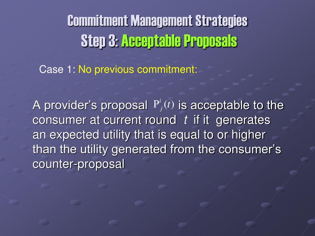 Commitment Management Strategies