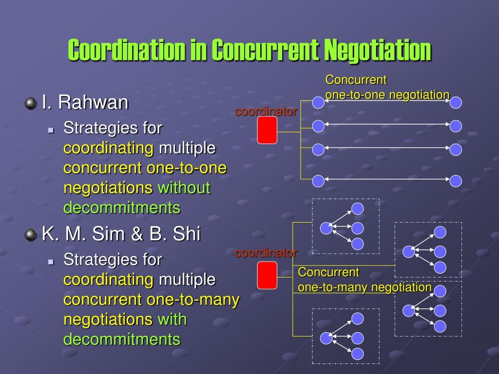 Coordination in Concurrent Negotiation