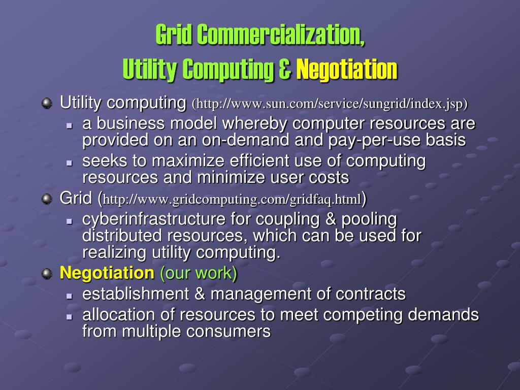 Grid Commercialization,