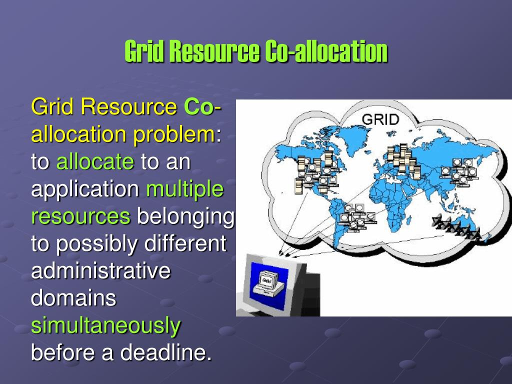 Grid Resource Co-allocation