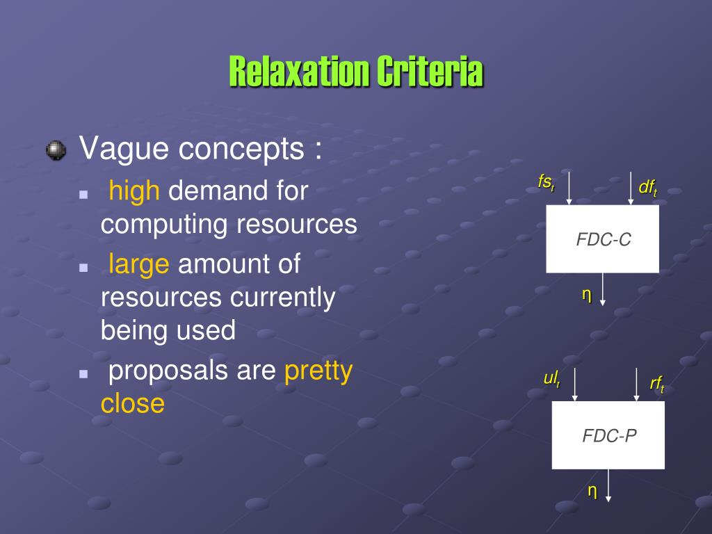 Relaxation Criteria