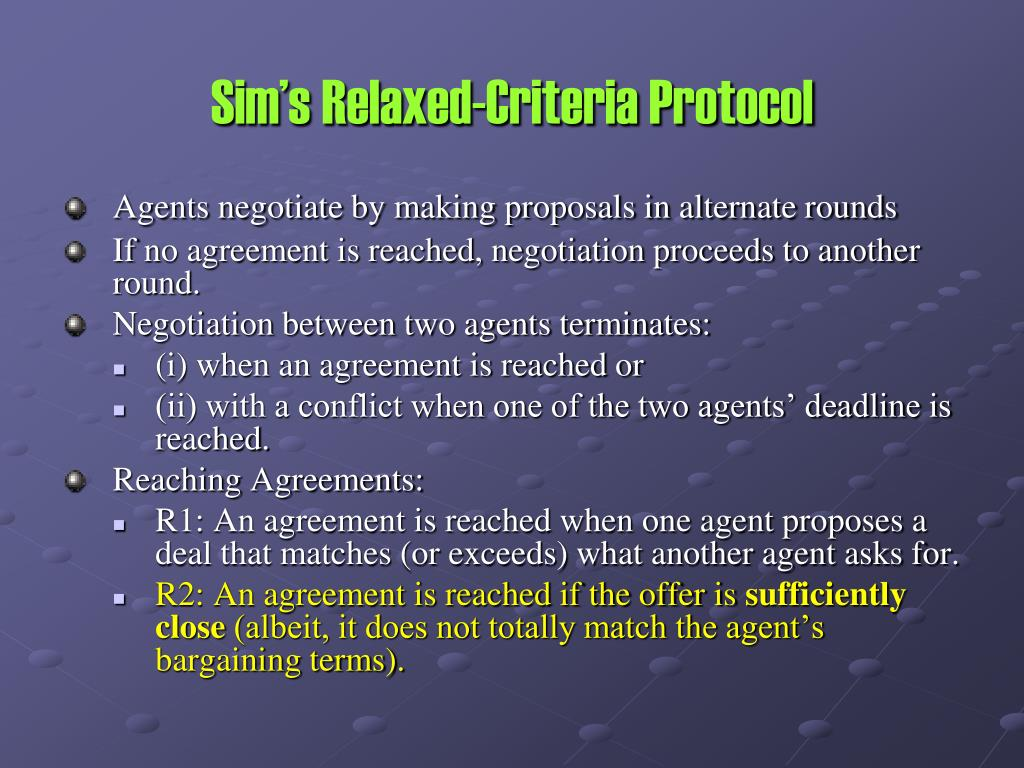 Sim's Relaxed-Criteria Protocol