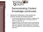 demonstrating content knowledge continued12