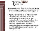 instructional paraprofessionals title i and target assistance programs