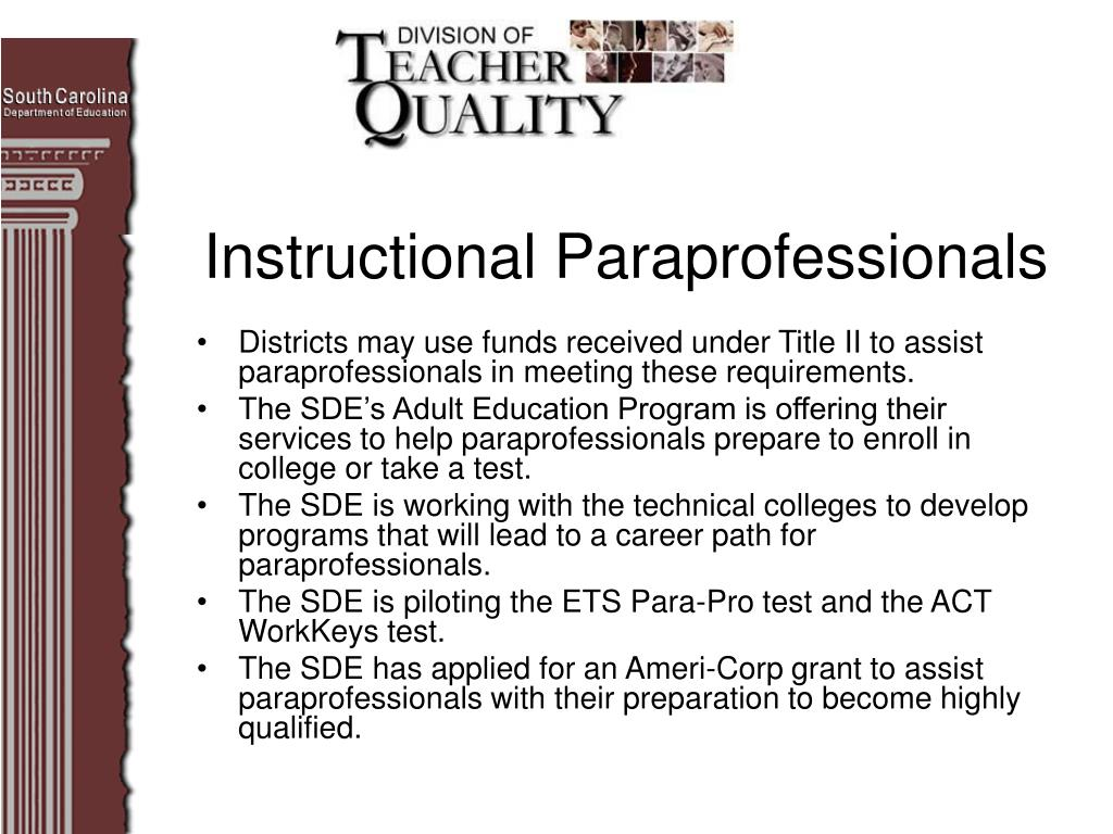 Instructional Paraprofessionals