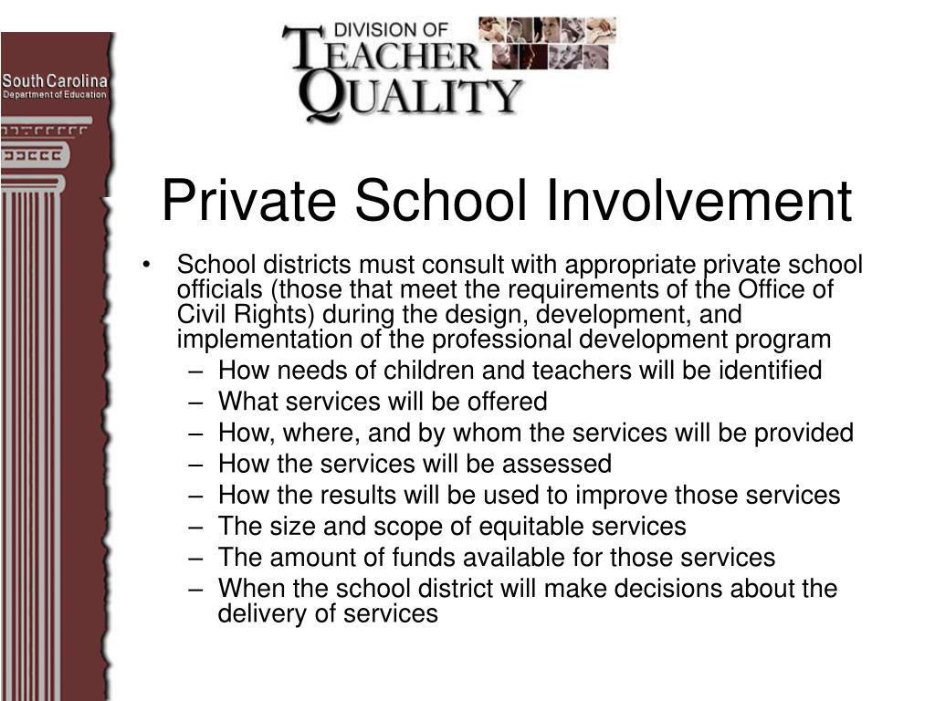 Private School Involvement