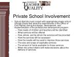 private school involvement