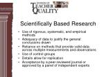 scientifically based research