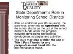 state department s role in monitoring school districts34