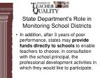 state department s role in monitoring school districts35