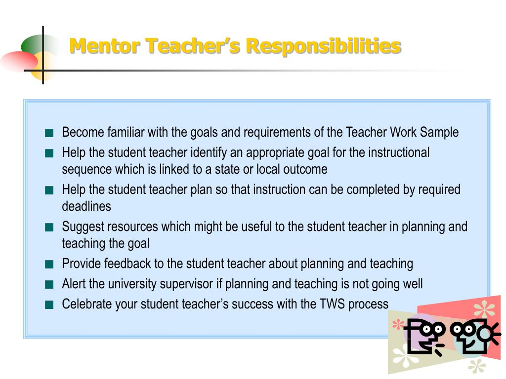 Mentor Teacher's Responsibilities