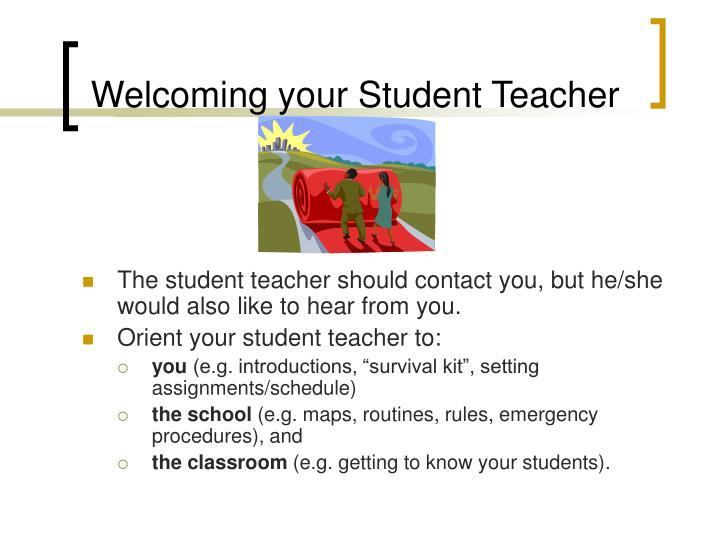 Welcoming your student teacher