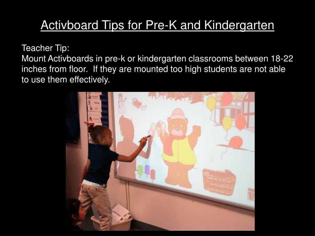 Activboard Tips for Pre-K and Kindergarten