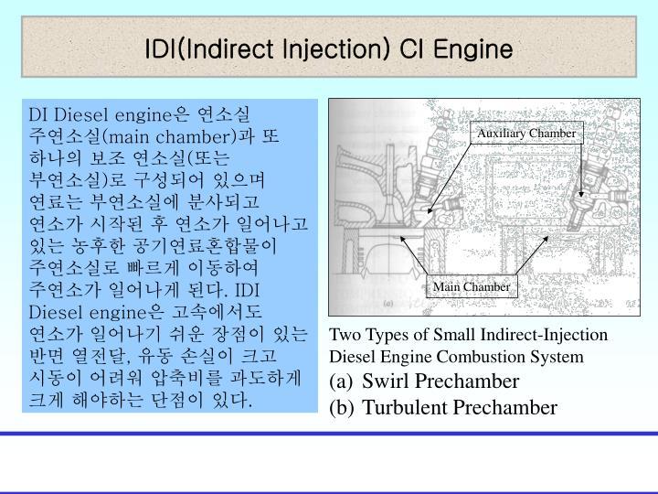 IDI(Indirect Injection) CI Engine