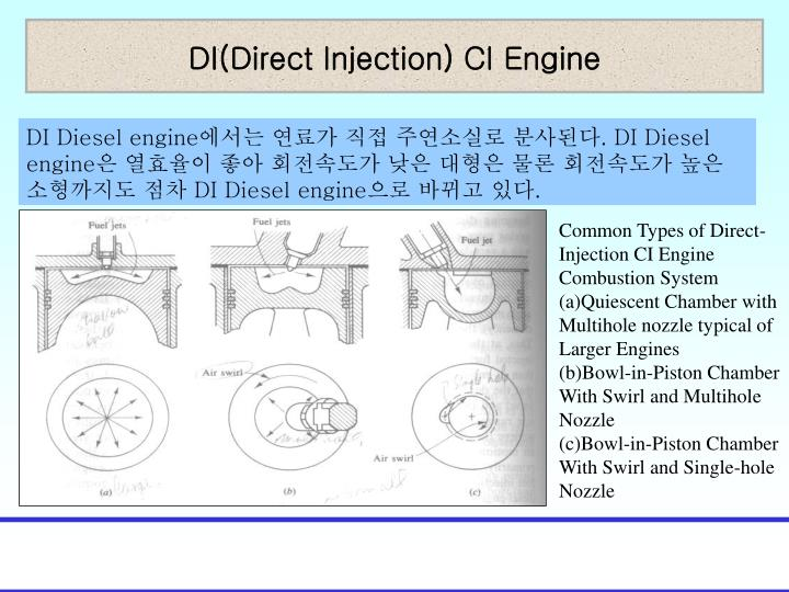 DI(Direct Injection) CI Engine