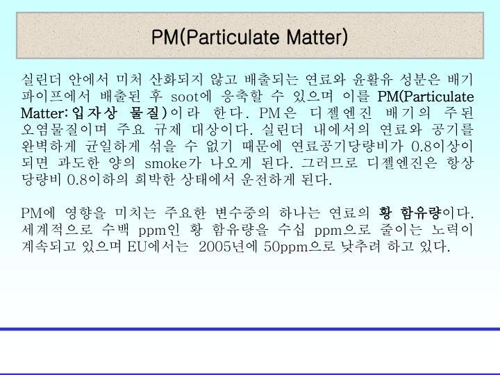 PM(Particulate Matter)