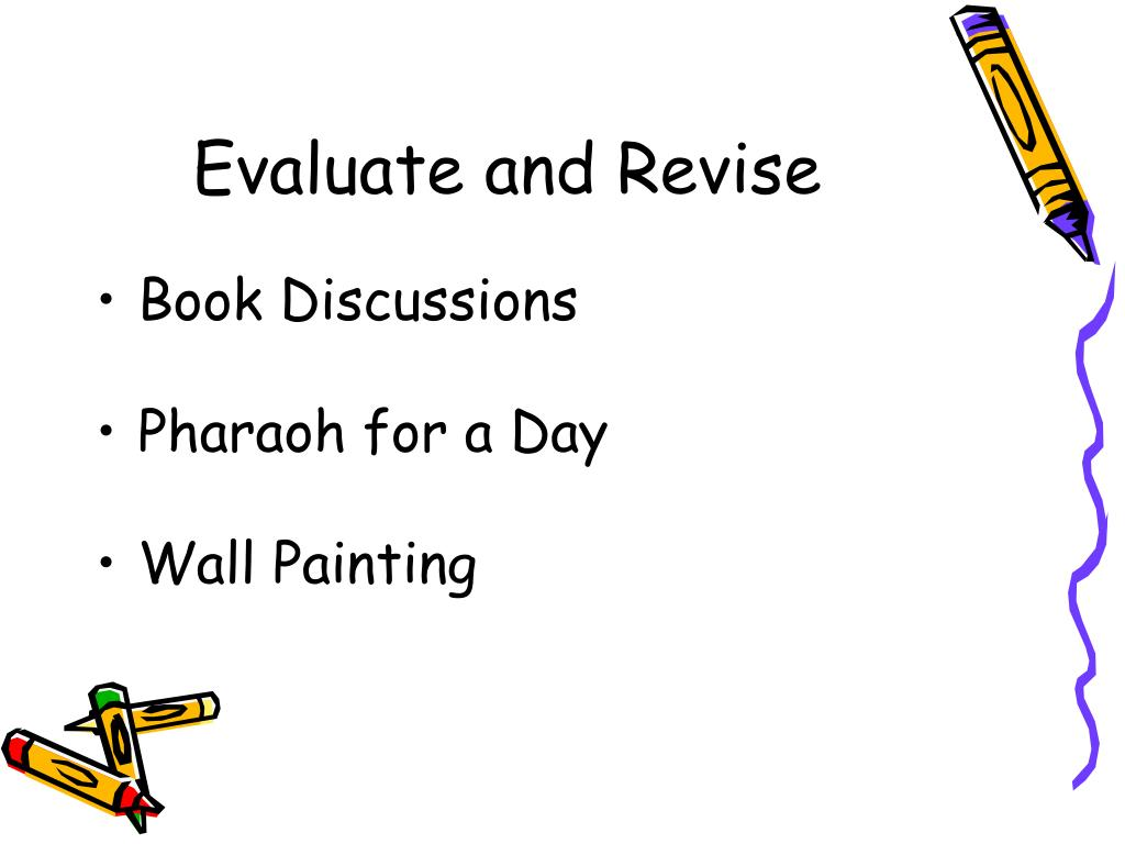 Evaluate and Revise